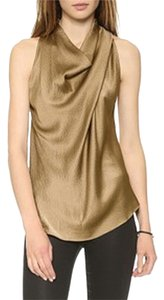 Helmut Lang Silk Racer-back Draped Top