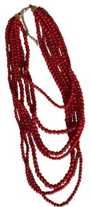 Instaglam Beaded Red Multi-Strand Necklace