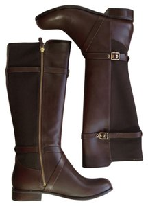 Cole Haan Leather Stretch chestnut brown Boots