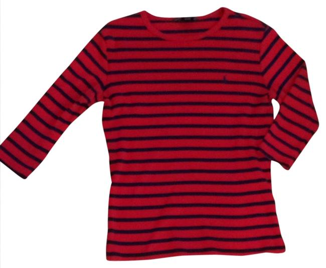 Preload https://item2.tradesy.com/images/ralph-lauren-red-and-navy-sweaterpullover-size-2-xs-931496-0-0.jpg?width=400&height=650