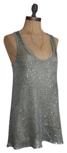 Anthropologie Sequin Sparkled Evening Top SAGE