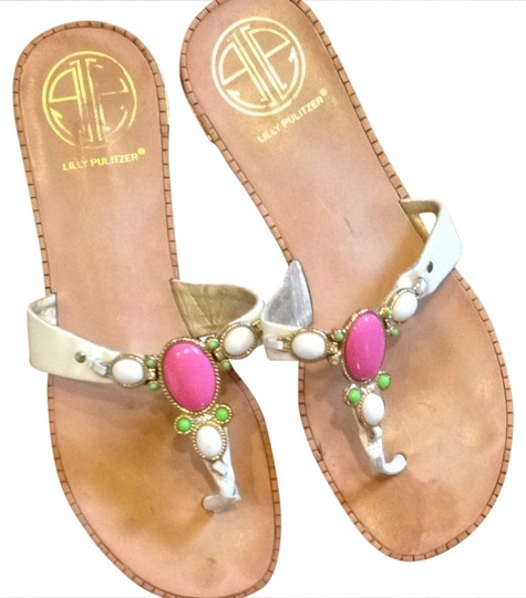 Preload https://item2.tradesy.com/images/lilly-pulitzer-pink-green-and-white-sandals-size-us-7-931521-0-0.jpg?width=440&height=440