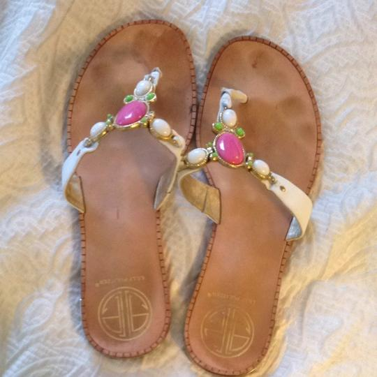 Lilly Pulitzer Pink, green, and white Sandals