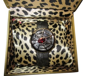 Betsey Johnson Betsey Johnson Women's A Go-Go Spider Watch Flip Top with Storage Box