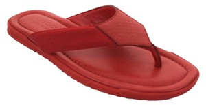 Gucci Monogram Flip Flops Men Red Sandals