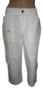Lauren by Ralph Lauren Preppy Thin Cool Classic Capris White