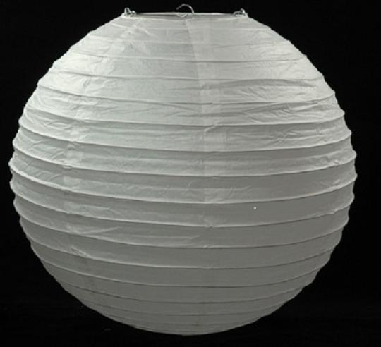 """White Snow - 24x 12"""" Chinese Round Sky Paper Lanterns Lamp Birthday Party Ceremony Decorations"""