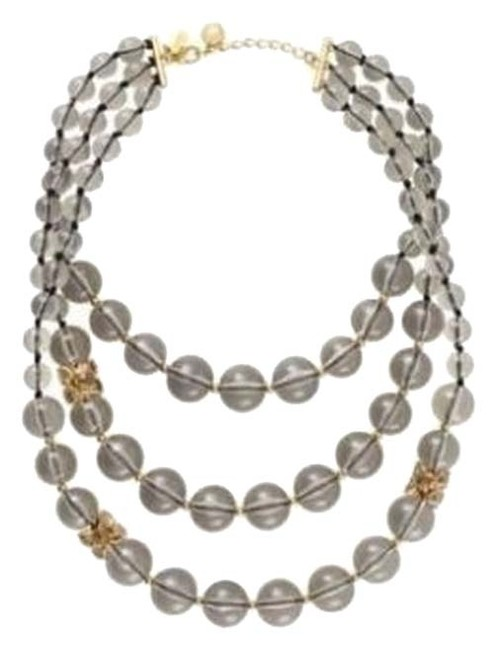 Kate Spade Smokey Diamond Iconic Bowery Bow Clasp Bowery Ball Modern Update On Three Strand Necklace Kate Spade Smokey Diamond Iconic Bowery Bow Clasp Bowery Ball Modern Update On Three Strand Necklace Image 1