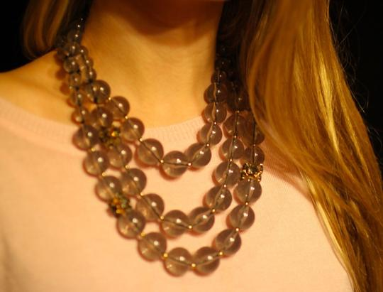 Kate Spade Iconic Bowery Bow Clasp! Kate Spade Bowery Ball Necklace! Modern Update on Three Strand Necklace! Gorgeous!