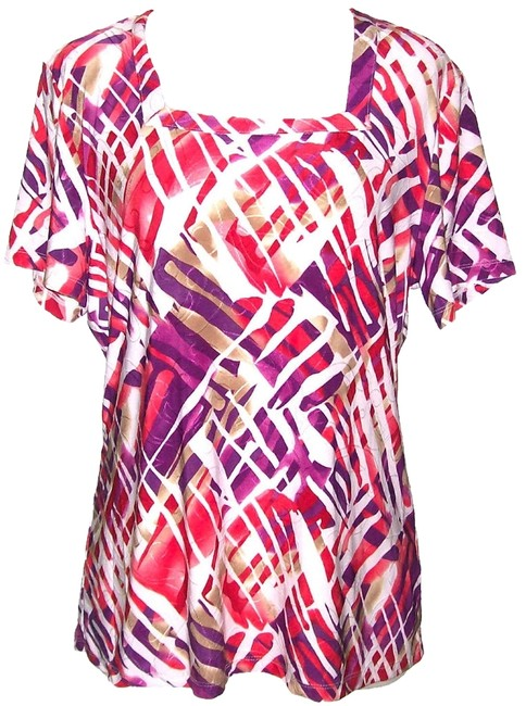 Preload https://item4.tradesy.com/images/jm-collection-top-multi-color-931638-0-0.jpg?width=400&height=650