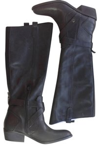 Dolce Vita Leather Riding Tall black Boots