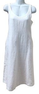 White Maxi Dress by Eileen Fisher Travel Linen Basics Layering System Medium Med 8 10 P M Pockets A-line A Line Work Summer Beach Vacation Florida