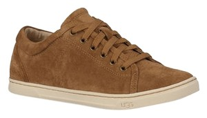 UGG Australia Womens Gifts For Women Tomi Suede Chestnut Flats