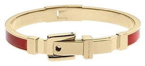 Michael Kors CONTACT ME IF INTERESTED..Red Enamel Buckle Hinged Bangle Bracelet