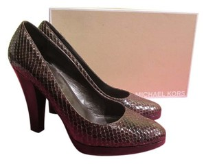 Michael Kors 7.5 Heels Python Collection brown Pumps
