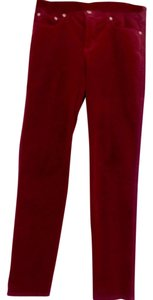 Fabrizio Gianni Slim Fit Straight Pants Mauve wine
