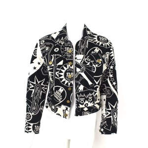 Moschino Graphic Print Cotton Wool Black and white Jacket