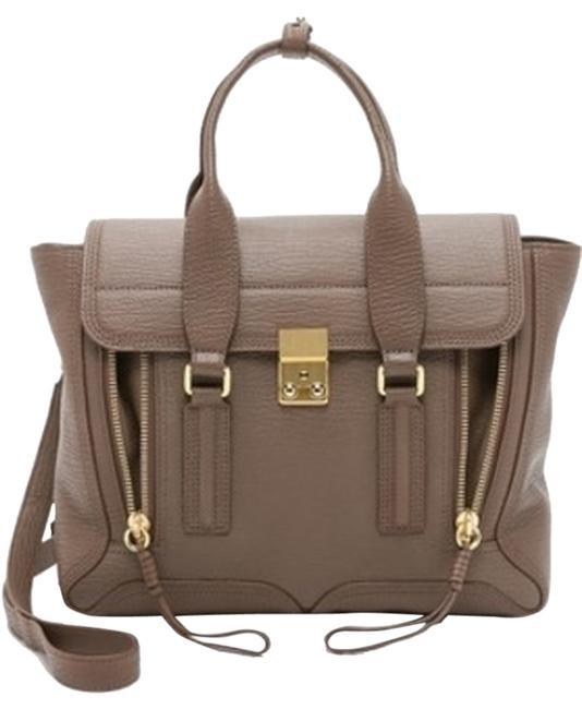 Item - Pashli Medium Satchel Grey / Taupe Leather Shoulder Bag