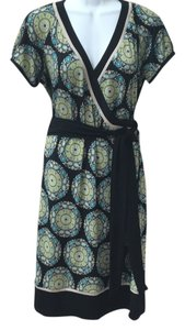 Sandra Darren Wrap Pattern Work Dress