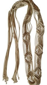 New braided belt with 12 in. fringe