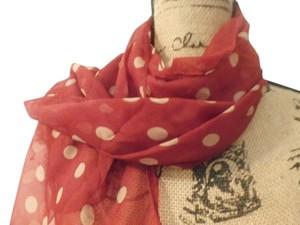 Other NEW HANDMADE POLKA DOT RED/TANSCARF 60X15 INCHES