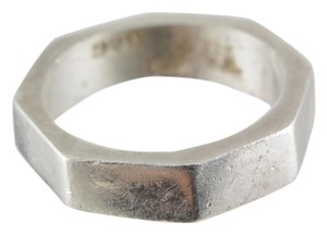 Octagon Band 925 Sterling Silver Band Ring
