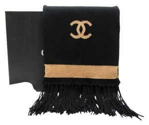 Chanel Extra Long Cashmere Scarf with Fringe