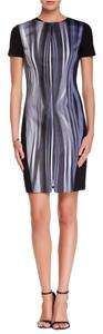 T Tahari Sheath Stripes Chic Printed Edgy Dress