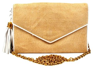 Chanel Straw Flap Vintage Chain Woc Shoulder Bag