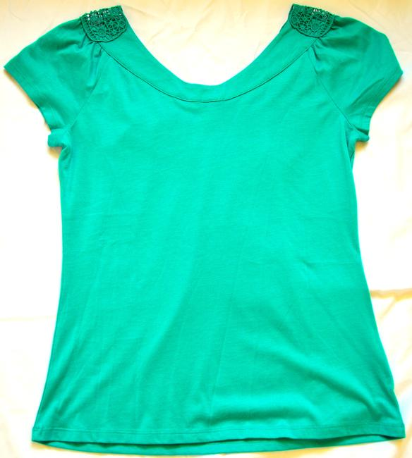 Ann Taylor Spring Top Turquoise
