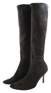Manolo Blahnik Suede Tall Brown Fall Winter Knee High Dark brown Boots
