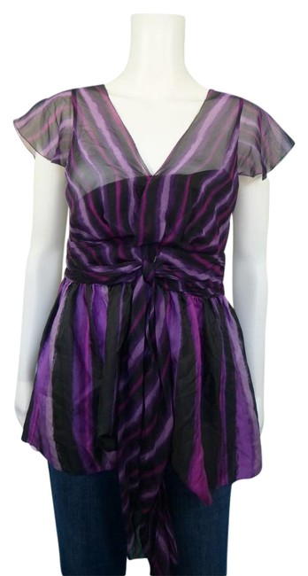 Preload https://img-static.tradesy.com/item/932085/dkny-purple-silk-blouse-size-4-s-0-2-650-650.jpg