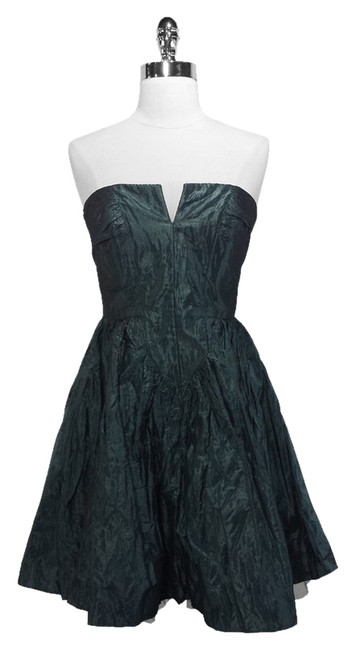 Preload https://img-static.tradesy.com/item/932097/karen-millen-green-metallic-crinkle-strapless-mid-length-cocktail-dress-size-8-m-0-0-650-650.jpg