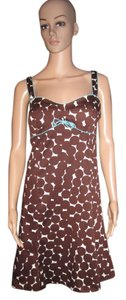 Karen Scott short dress Brown, white and blue bow Thick Warm Unique on Tradesy