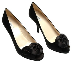 Prada Rose Pump Formal Black Pumps