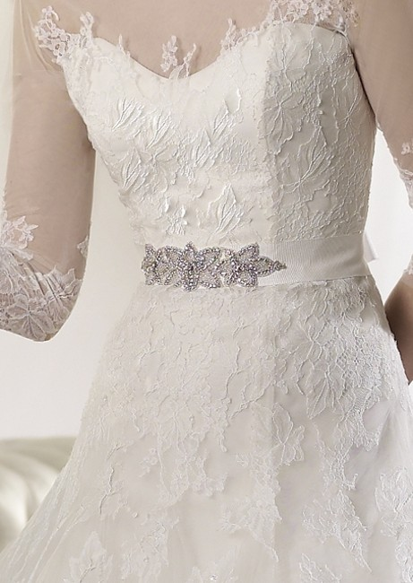 Item - Off White Tulle and Lace Argos Traditional Wedding Dress Size 12 (L)