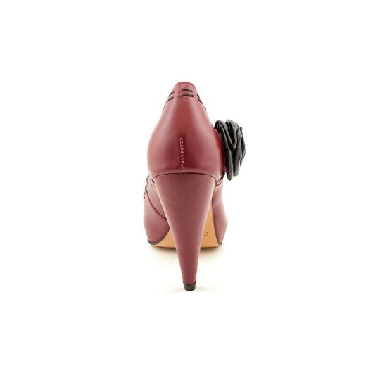 Samanta European Chic Leather Deep Red Pumps