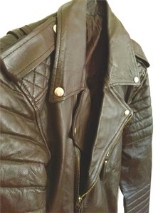 Mr Bern Leather Lambskin Dark Brown Leather Jacket