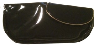 See by Chloé Chloe Patent Leather Silver/gold Eveningwear Black Clutch