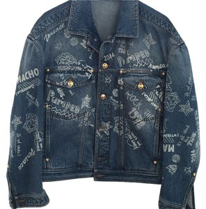 Versace Blue denim Womens Jean Jacket