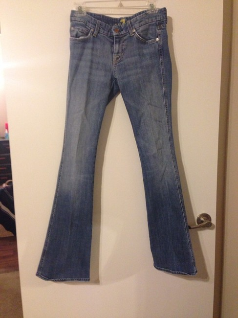 7 For All Mankind A-pocket Denim Studded Boot Cut Jeans-Light Wash