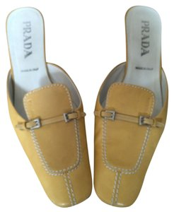 Prada Yellow Mules