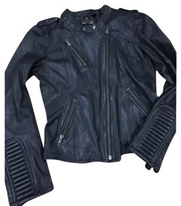 Romeo & Juliet Couture Luxe Couture Blac Leather Jacket