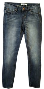 Garage Distressed Stretchy Straight Leg Jeans-Distressed