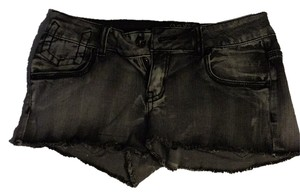 Refuge Jeans Cut Off Shorts Grey/black