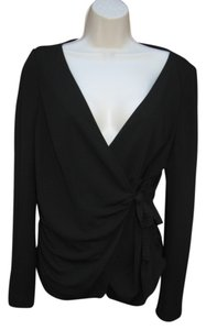 Zara Evening Night Out Work Fuil Wrap Black Jacket