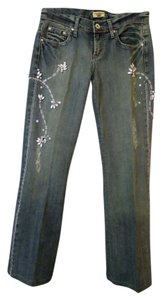 Department of Peace Studded Jeweled Dressy Straight Leg Jeans
