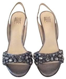 Pelle Moda Pewter/Silver Formal