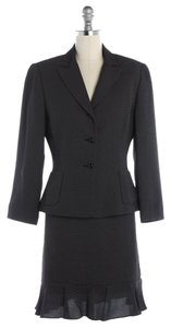 Tahari Tahari A.S.L. Black Polka Dot Skirt Suit