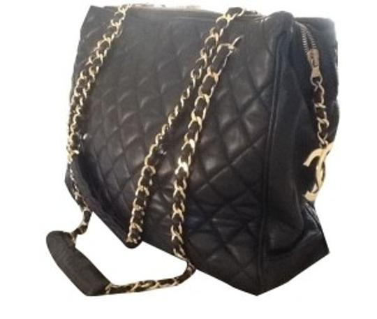 Preload https://item1.tradesy.com/images/chanel-signature-gold-chain-straps-with-ha-black-quilted-leather-shoulder-bag-9325-0-0.jpg?width=440&height=440